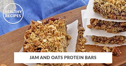 Healthy Recipes - Jam And Oats Protein Bars