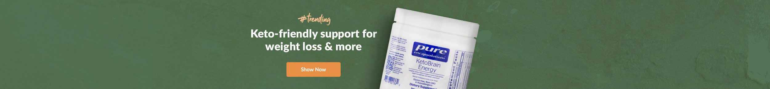 KetoBrain Energy by Pure Encapsulations: Keto-Friendly support for weight loss & more - Shop Now!