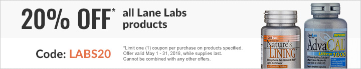 20% off* all Lane Labs products