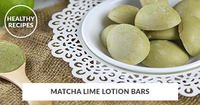 Healthy Recipes - Matcha Lime Lotion Bars
