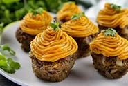 Meatloaf Muffins with Sweet Potato
