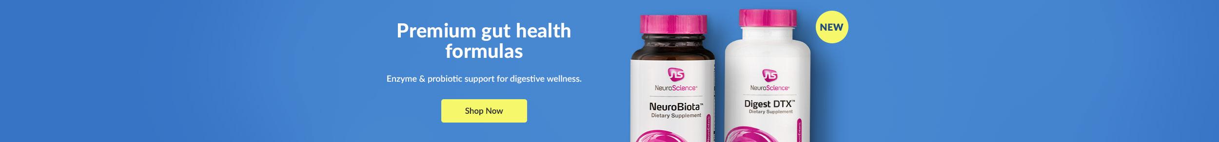 Premimum gut health formulas - Enzyme & probiotic support for digestive wellness. SHOP NOW!
