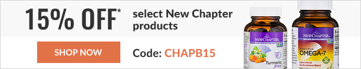 15% off* select New Chapter products