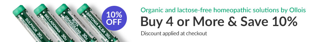 Organic and lactose-free homeopathic solutions by Ollois: BUY 4 & SAVE 10% - Discount Applied At Checkout
