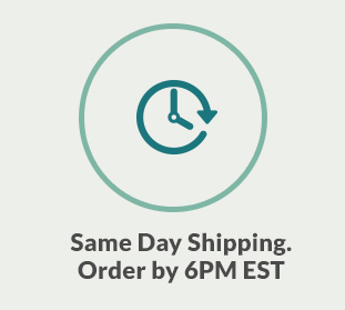 Same day shipping. Order by 6pm EST