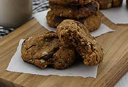 PB and Chocolate Oatmeal Cookies