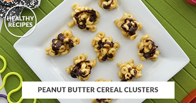 Healthy Recipes - Peanut Butter Cereal Clusters