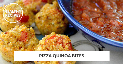 Healthy Recipes - Pizza Quinoa Bites