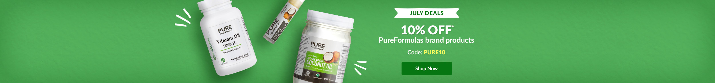 July Deals: 10% OFF PureFormulas brand products - Code:PURE10