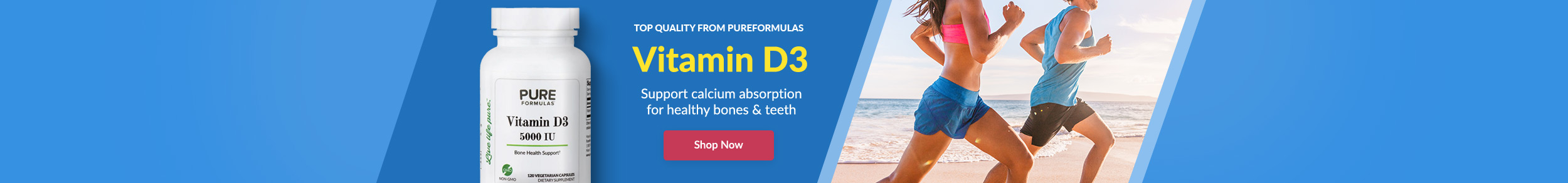 Top Quality from PureFormulas: Vitamin D3 - Support calcium absorption for healthy bones & teeth