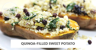 Healthy Recipes - Quinoa-Filled Sweet Potato