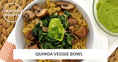 Healthy Recipes - Quinoa Veggie Bowl