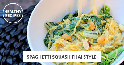 Healthy Recipes - Spaghetti Squash Thai Style