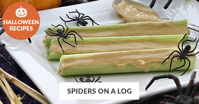 Halloween Recipe Favorites: Spiders on a Log