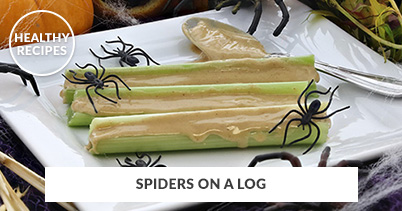 Healthy Recipes - Spiders On A Log