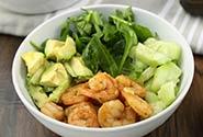 Shrimp and Avocado Salad Bowl