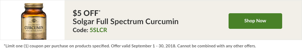 $5 off* Solgar Full Spectrum Curcumin