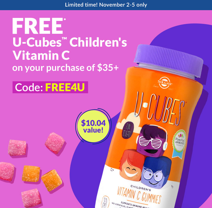 FREE* U-Cubes™ Children's Vitamin C on your purchase of $35+