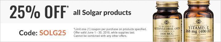 25% off Solgar