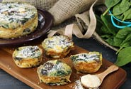 SPINACH, MUSHROOMS & FETA CRUSTLESS QUICHE