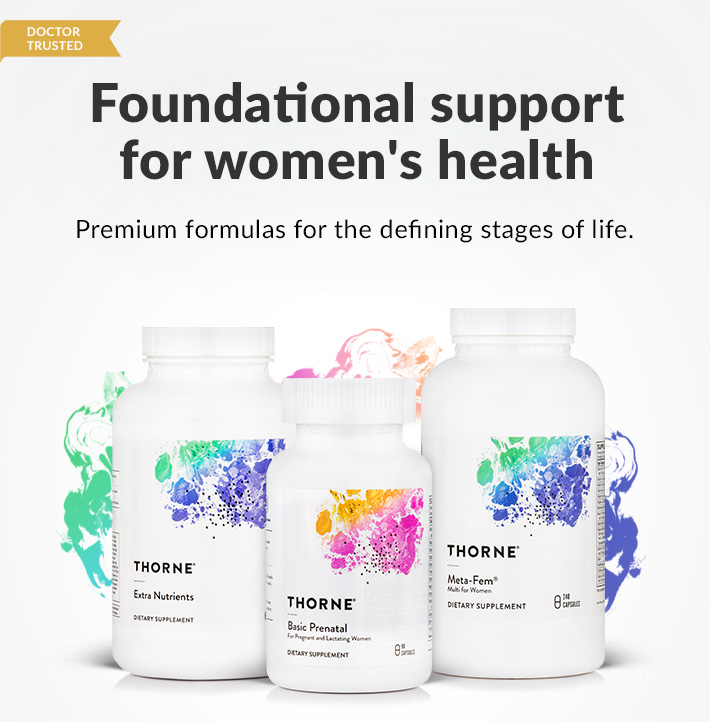 Foundational support for Women's health by Thorne