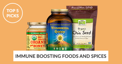 Top 5 Picks - Immune Boosting Foods and Spices