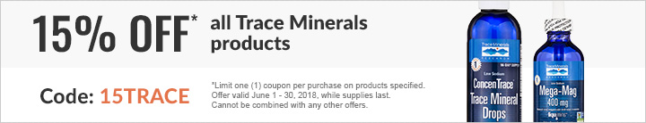 15% off Trace Minerals