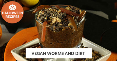 Halloween Recipe Favorites: Halloween Vegan Worms and Dirt