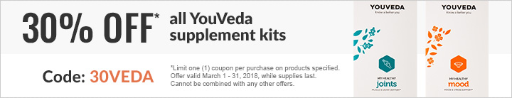 30% OFF ALL YOUVEDA SUPPLEMENTS