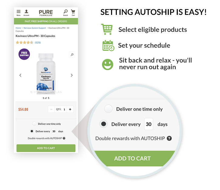 Setting Autoship is Easy!