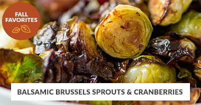 Fall Recipe Favorites: Balsamic Brussels Sprouts & Cranberries