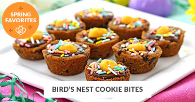 Spring Recipe Favorites: Bird's Nest Cookie Bites