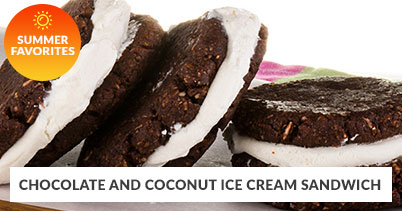 Summer Recipe Favorites: Chocolate & Coconut Ice Cream Sandwich