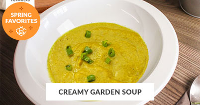 Spring Recipe Favorites: Creamy Garden Soup