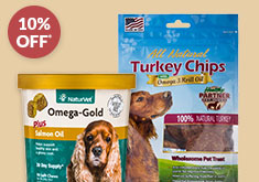BUY 3 & SAVE 10% on SELECT PRODUCTS FOR DOGS