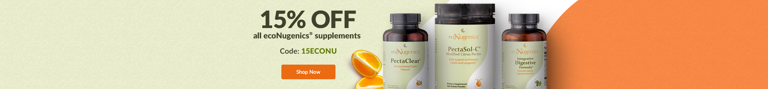 15% OFF all EcoNugenics supplements - Code: 15ECONU