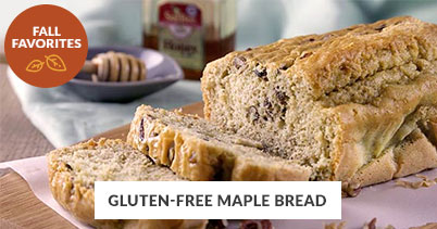 Fall Recipe Favorites: Gluten-Free Maple Bread