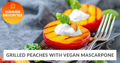 Summer Recipe Favorites: Grilled Peaches With Vegan Mascarpone