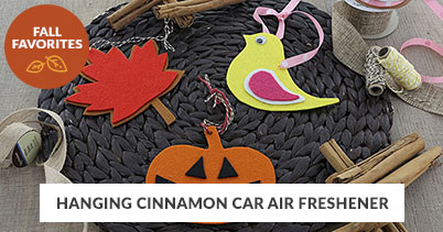 Fall Recipe Favorites: Hanging Cinnamon Car Air Freshener