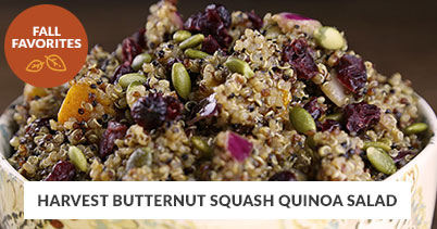 Fall Recipe Favorites: Harvest Butternut Squash Quinoa Salad