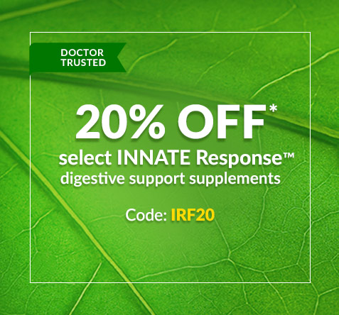 20% off* select INNATE Response digestive support supplements - Code: IRF20