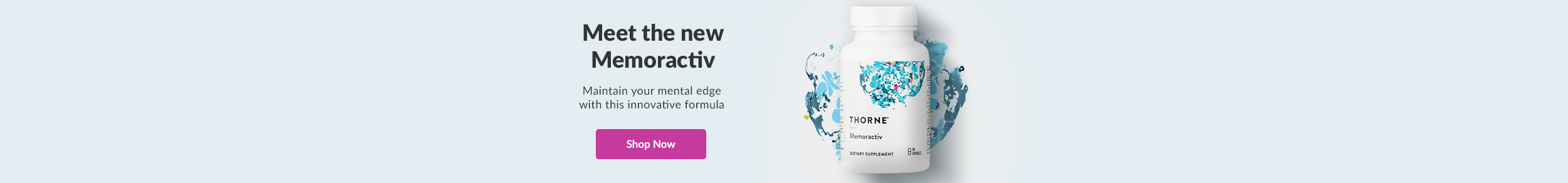 Meet the new Memoractiv - Maintain your mental edge with this innovative formula