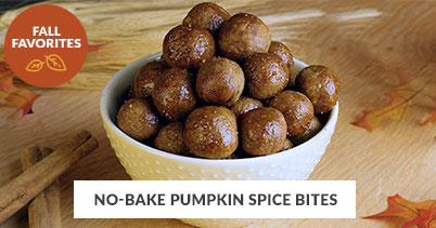 Fall Recipe Favorites: No-Bake Pumpkin Spice Bites