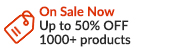 On Sale Now: - Up to 50% OFF 1000+ products