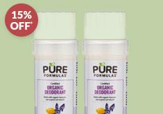PureFormulas' Certified Organic Deodorant