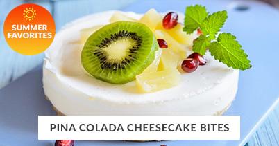 Summer Recipe Favorites: Pina Colada Cheesecake Bites