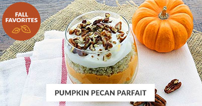 Fall Recipe Favorites: Pumpkin Pecan Parfait
