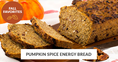 Fall Recipe Favorites: Pumpkin Spice Energy Bread