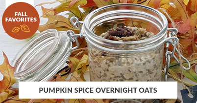 Fall Recipe Favorites: Pumpkin Spice Overnight Oats