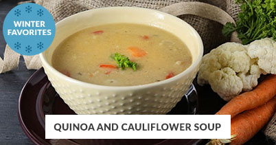 Winter Recipe Favorites: Quinoa Cauliflower Soup